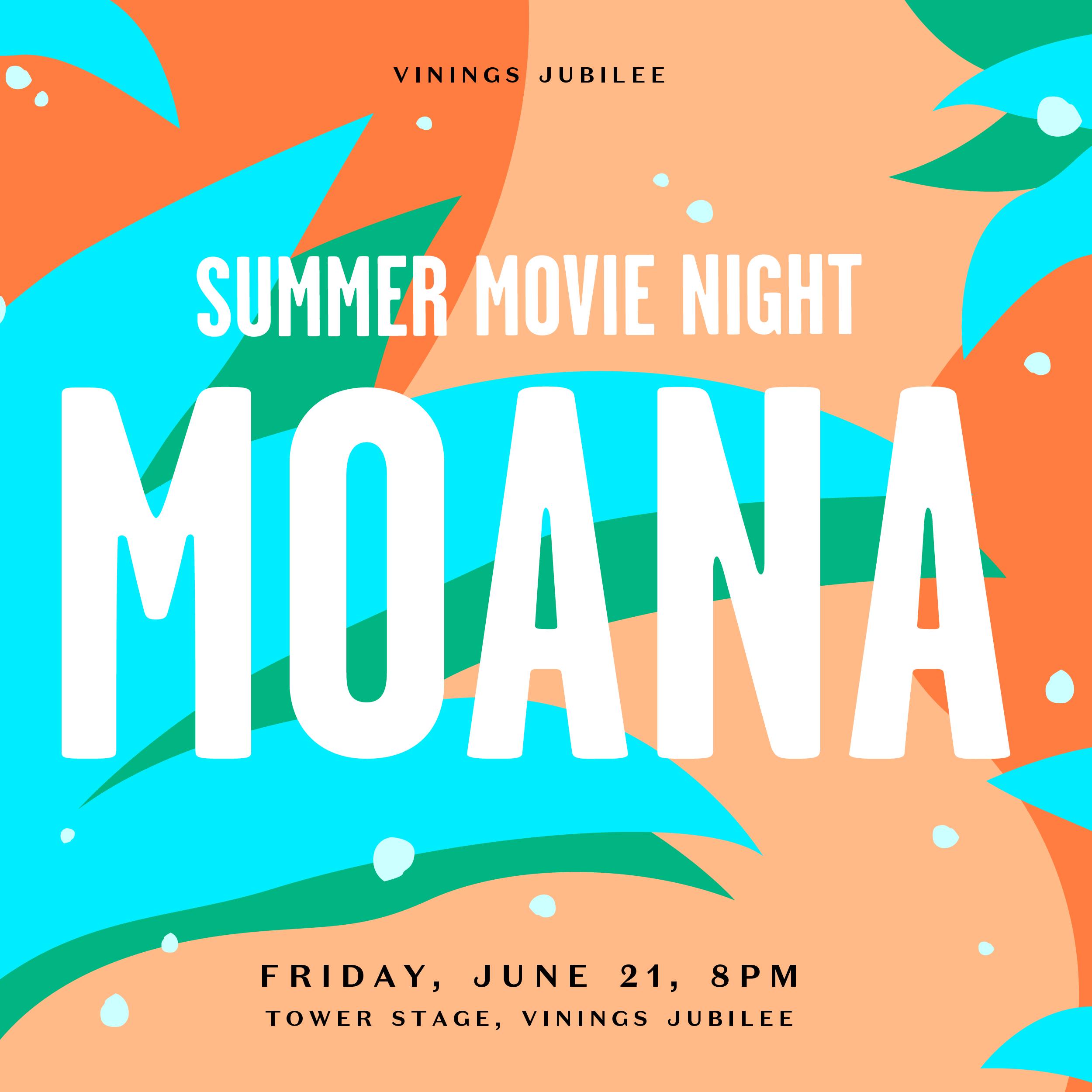 Summer Movie Night - Moana, Cobb, Georgia, United States