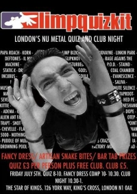 Limp Quizkit - Nu-Metal Pub Quiz And Club Night