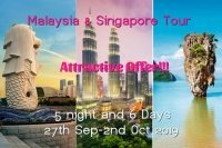 Book your tour packages to Singapore & Malaysia