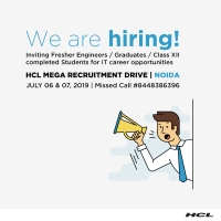 HCL MEGA RECRUITMENT DRIVE