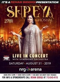 Shreya Ghoshal Live in Concert Houston 2019