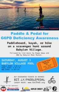 Paddle and Pedal for G6PD Deficiency Awareness