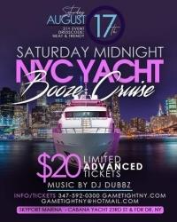 New York City Saturday Midnight Yacht Party Booze Cruise at Skyport Marina