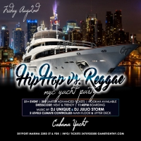 NYC Hip Hop vs. Reggae Summer Yacht Party at Skyport Marina Cabana
