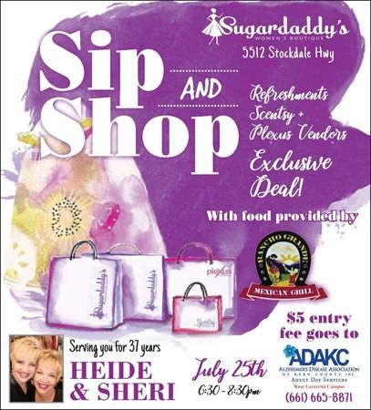 ip and Shop on July 25 at Sugardaddy's Women's Boutique, Bakersfield, California, United States