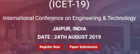 International Conference on Engineering & Technology (ICET-19)