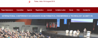 International Conference on Advances in Mathematics, Engineering & Technology (ICAMET-19)