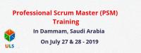 Professional Scrum Master (PSM) Certification Training Course in Dammam, Saudi Arabia