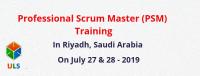 Professional Scrum Master (PSM) Certification Training Course in Riyadh, Saudi Arabia