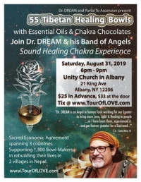 55 Tibetan Healing Bowls, Essential Oils & Chocolate Experience in Albany