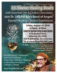 33 Tibetan Healing Bowls, Essential Oils & Chocolate in Dayton, OH