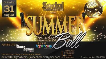 Summer ball for Hope House and Ty gobiath, Shropshire, England, United Kingdom