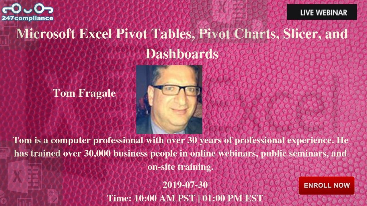 Microsoft Excel Pivot Tables, Pivot Charts, Slicer, and Dashboards, Newark, Delaware, United States