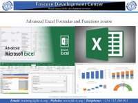 Advanced Excel Formulas and Functions course
