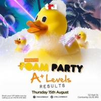 A-Level Results | Foam Party
