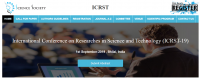 International Conference on Researches in Science and Technology(ICRST-19)