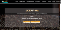 International Conference on Ecological Agriculture and Forestry (ICEAF-19)