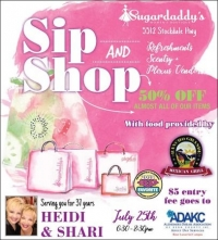 Sip and Shop on July 25 at Sugardaddy's Women's Boutique