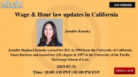 Wage & Hour law updates in California