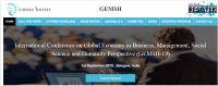 International Conference on Global Economy in Business, Management, Social Science and Humanity Perspective (GEMSH-19)