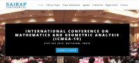INTERNATIONAL CONFERENCE ON MATHEMATICS AND GEOMETRIC ANALYSIS (ICMGA-19)