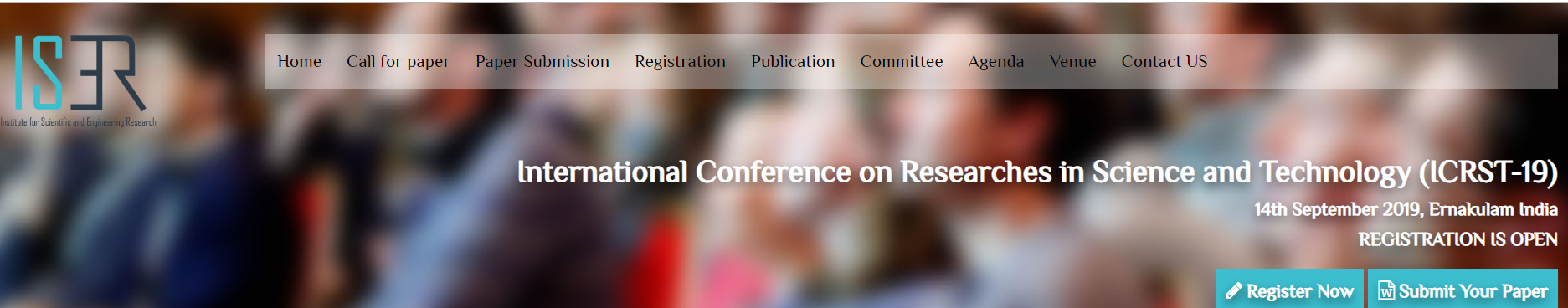 International Conference on Researches in Science and Technology (ICRST-19), Ernakulam, Kerala, India