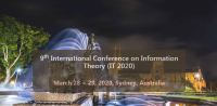 9th International Conference on Information Theory (IT 2020)