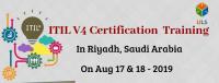 ITIL V4 Foundation Certification Training Course in Riyadh, Saudi Arabia