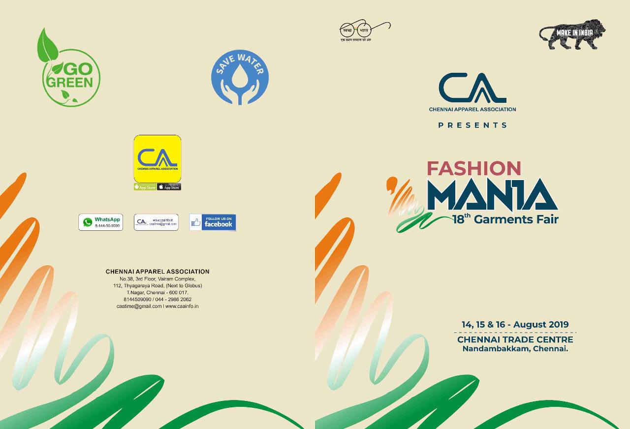 CAA-Fashion Mania 2019, Chennai, Tamil Nadu, India