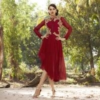 Beautiful Patterns in Red Kurtis Online At Mirraw
