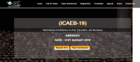 International Conference on Arts, Education, and Business  (ICAEB-19)