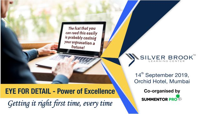 Eye for detail - Attention to detail training Program by Silver brook learning center, Mumbai, Maharashtra, India
