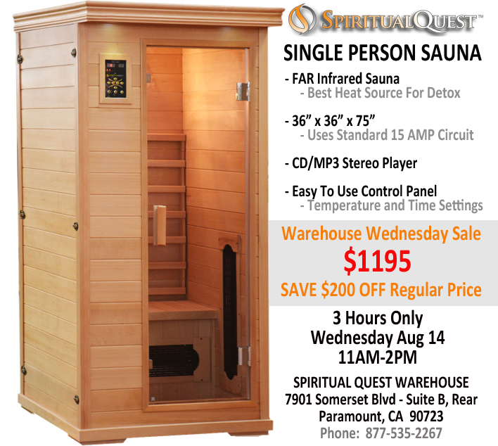 Warehouse Wednesday Sale - SAVE $200 on Personal Sauna, Los Angeles, California, United States