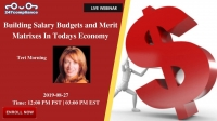 Building Salary Budgets and Merit Matrixes In Todays Economy