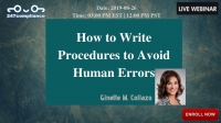 How to Write Procedures to Avoid Human Errors