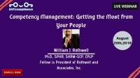 Competency Management:  Getting the Most from Your People