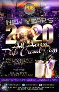 New York City New Year's Eve All Access Pub Crawl Pass - NYE 2020