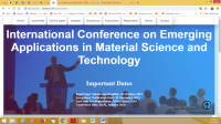 Scopus-Indexed AIP International Conference on Emerging Applications in Material Science and Technology