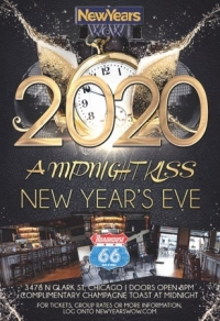"""""""A Midnight Kiss"""" New Year's Eve Party at Roadhouse 66 Wrigleyville Chicago"""