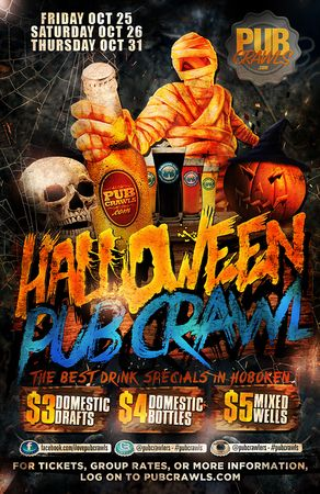 Hoboken Halloween Weekend Fright Night Pub Crawl - Oct 2019, Hoboken, New Jersey, United States
