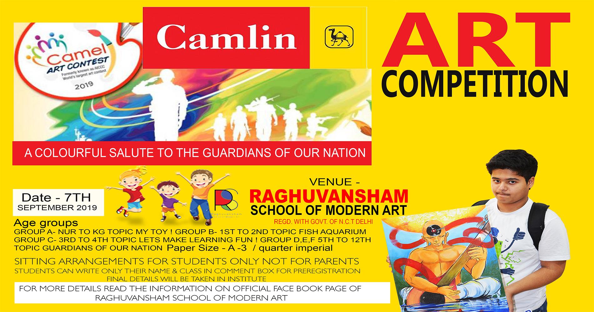 Camlin Art Competition 2019, North West Delhi, Delhi, India