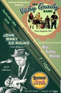 Belgium Blues, John Mary Go Round and the Vicky Grady Band to perform