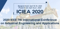 2020 IEEE 7th International Conference on Industrial Engineering and Applications  (ICIEA 2020)