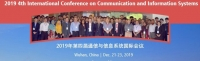 2019 4th International Conference on Communication and Information Systems (ICCIS 2019)