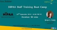 HIPAA Staff Training Boot Camp