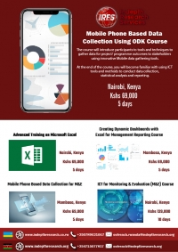 Be part of our mobile based data collection using ODK training couse| Register Now