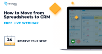 FREE LIVE WEBINAR How to Move from Spreadsheets to CRM