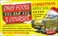 Only Fools 3 Courses XMAS Special Dinner Britannia Leeds Airport Hotel 7/12
