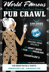San Diego New Year's Eve All Access Pub Crawl Pass 2020