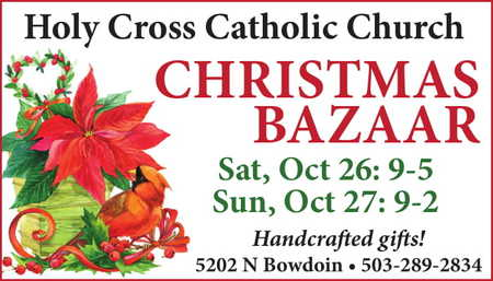Portland Christmas Bazaar 2019.Holy Cross Catholic Church Christmas Bazaar Expo